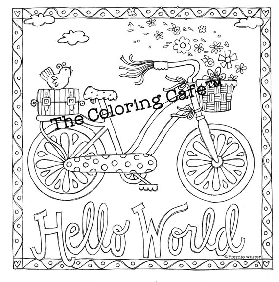 Coloring Cafe Book For Grown Up Girls By Ronnie