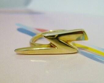 Handmade Lightning Bolt Ring