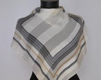 Vintage JEROM LEPLAT mini silk scarf...(007)