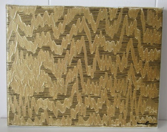Seismograph -Gold- original abstract painting 8 x 10 *SALE* *LOW PRICE*