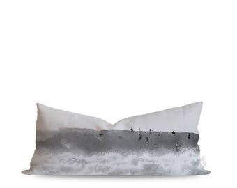 12x36in Pipeline Surf Lumbar Pillow Cover