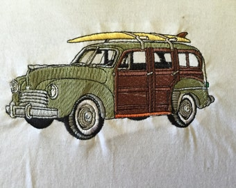 """Embroidered """"Classic Woody"""" T-Shirt"""