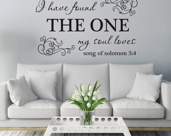 I have found the one my soul loves - Song of Solomon christian wall art design, living room, bedroom, hallway, decorating, decorative design