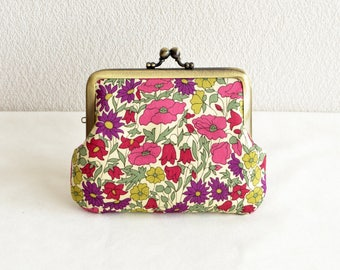 """Frame purse - Liberty """"Poppy and Daisy"""" floral coin purse"""