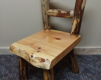Log Kids Chair|Rustic Children's Chair