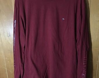 Tommy Hilfiger Maroon Longsleeve Shirt