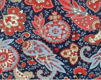 Ann's Arbor Navy Paisley 14842 14 by Minick & Simpson for Moda