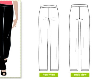 Linda Stretch Pant // Sizes 16, 18 & 20 // Women's Sewing Pattern for Instant Download