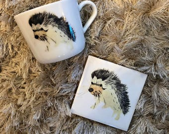 Hedgehog Cup And Coaster
