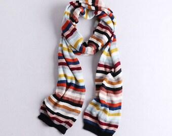 Crazy stripe scarf