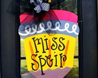 Teacher Gifts | Teacher Appreciation Gift | Personalized Teacher Gift | Classroom Decor | Pencil Door Hanger |classroom Decor Classroom Sign