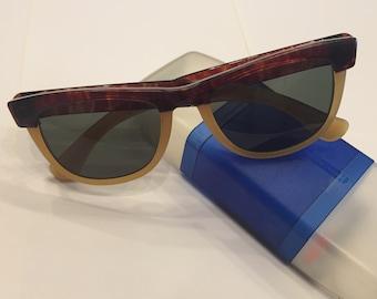 90s vintage sunglasses sun unlimited wayfarer walkstreet tortiseshell