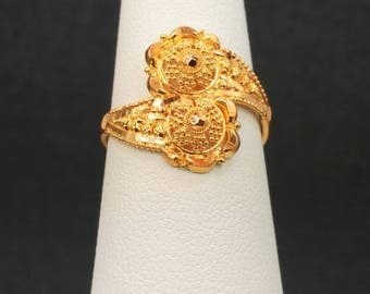 GOLDSHINE 22K Solid Yellow Gold RING Size 6 (US/Canada) Genuine, Handcrafted & Hallmarked 916