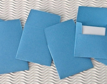 36+ teeny tiny envelope note card sets handmade in ocean blue mini miniature square party favors weddings stationery guest book