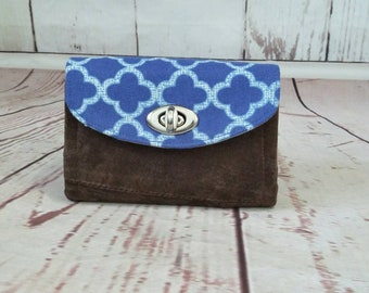 The Necessary Clutch Small Mini Cell Phone Wallet Wristlet real suede leather
