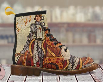 Joan of Arc Doc Martens Style Leather Boots for Women