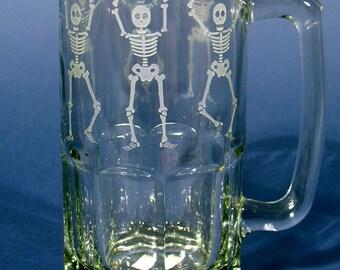X-Large Etched Beer Mug
