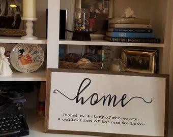 Barnwood Framed Home Sign