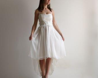 High Low Wedding Dress, Beach wedding dress, Alternative dress, Rehearsal dress, Reception Wedding Dress, Short Wedding dress, Boho dress
