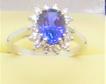 Rare Colour Change Untreated Sapphire(certified) 2.12ct Violet to Purple