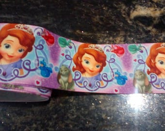 """Ribbon grosgrain """"Princess Sofia"""" 50mm and sold by 70 cm"""