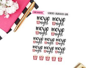 Movie Night // Planner Stickers