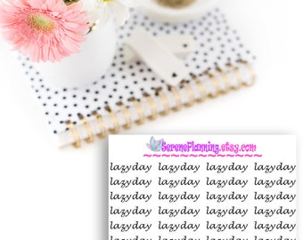"""24 """"Lazy Day"""" Planner Stickers"""