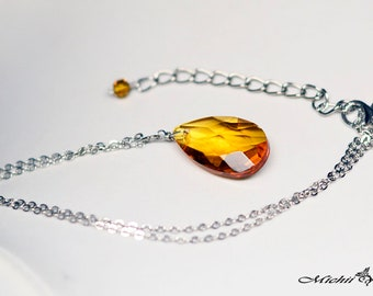 AS IS: Marvel Avengers Infinity Stone - Soul inspired Glass Crystal Necklace