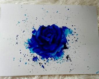 Blue Rose, art print