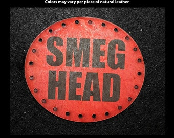 Smeg Head Leather Patch