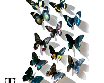 Black Butterflies, 3D Butterfly Wall Decor, Butterfly Decoration, 3D  Butterflies, 3D Wall