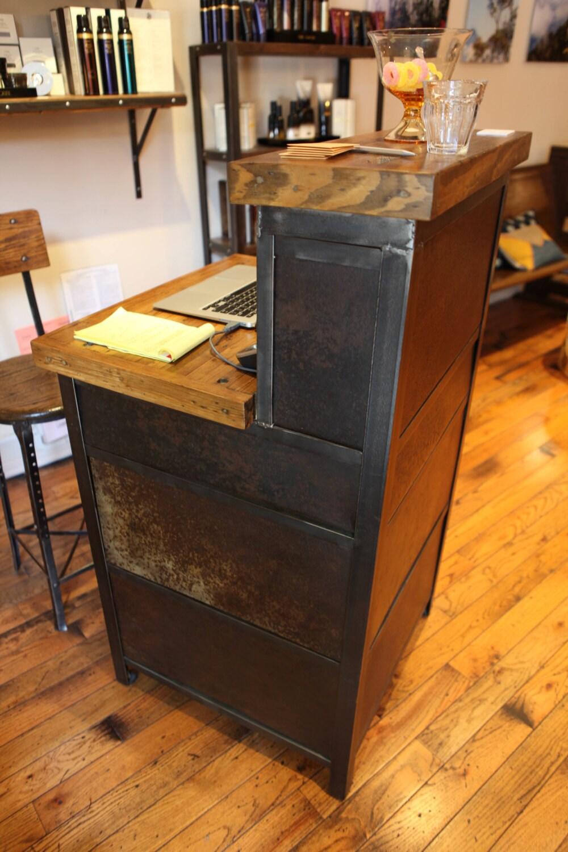 Salon Furniture Salon Reception Desk Salon Storage Desk # Table De Salon En Mdf