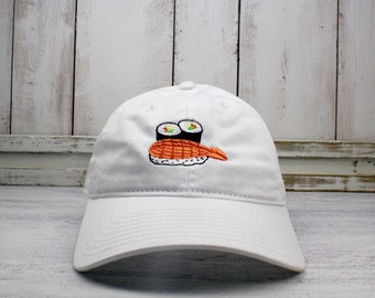 Sushi Time Dad Hat  Embroidered Baseball Cap Curved Bill 100% Cotton