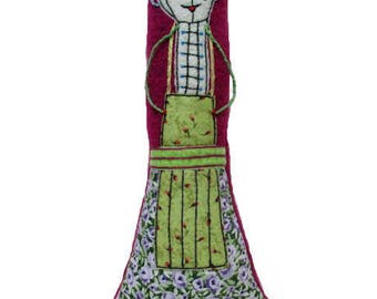 Rosica doll plushie of the family of the Babushkas. Doll play and collectible.