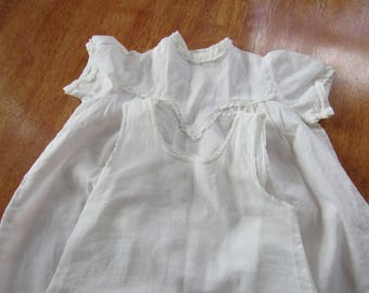 FREE Shipping in USA Vintage 2 Piece Cotton Baby Girl Dress and Slip Summer Dress  12 months 2530