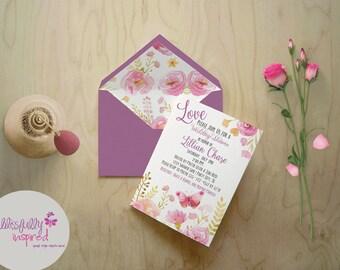 Garden Theme Bridal Shower Invite / Floral Invite / Chic Bridal Shower / Fancy Bridal Shower Invite