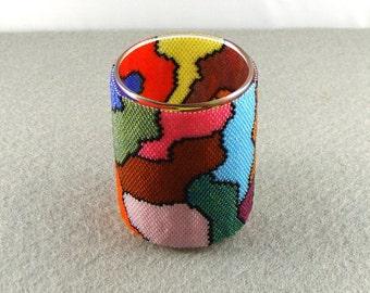 psychedelic random shapes votive wrap