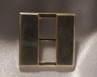 """SQUARE Sterling Silver Brooch 4/3"""""""