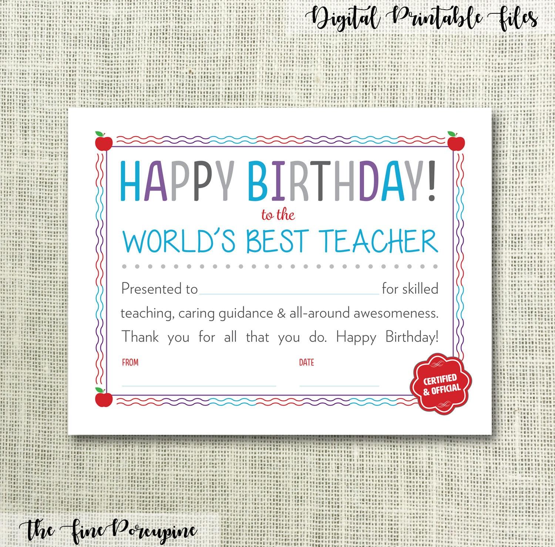 Teacher Appreciation Certificate Printable Zrom