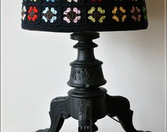 Floor lamp etsy retro vintage mid century wooden table side floor lamp black aloadofball Image collections