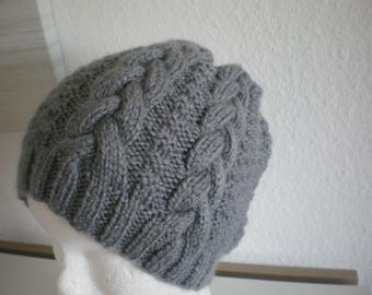 Gray wool, hand made in ALSACE women Hat
