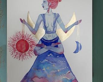 Original Watercolor Painting, Zodiac signs, Libra, Scorpio, Taurus, Capricorn, Cancer, Aquarius, Aries watercolour, art, illustration