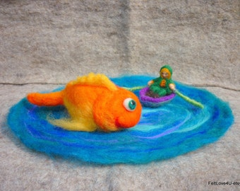 Gold Fish and the Fisherman Playscape©.  size: 25 cm. across