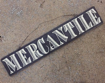 Mercantile Sign, Rustic Chalkboard Sign, Hand Lettered Chalkboard Sign, Rustic Kitchen Decor, Farmhouse Wall Decor, Wire Hanger Sign
