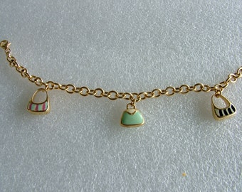 Charm Bracelet with bags charms