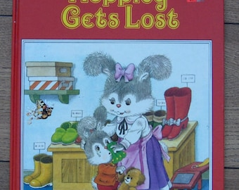 vintage 80s A new happy ending book Hoppity Gets Lost children picture book girl boy