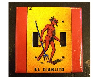 Loteria double switch plate cover Mexico retro vintage pop culture folk art light switch