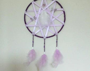 Lilac and purple dream catcher