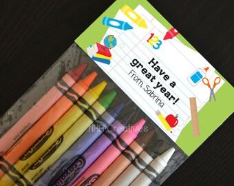 Personalized Back To School Treat Bag Topper - School Supplies - DIY Printable Digital File