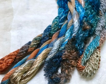 Silk Embroidery Threads hand dyed for Embroidery, Ribbon Embroidery, Cross Stitch, Stump-work and Quilting